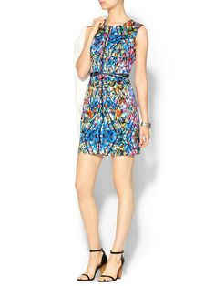 Day 1 Tropical Floral Detailed Sheath Dress $398.00