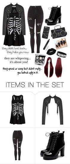 """my anxious side."" by onesuponatime ❤ liked on Polyvore featuring art"