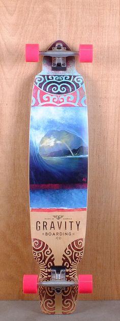 "Gravity 43"" Drop Kick Rainbow Barrel Longboard Bottom"