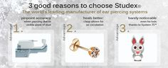 Ear piercing with Studex – 3 good reasons