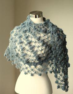 Gray Shawl / Wedding / Bridal Accessories / Bridal by MODAcrochet, $72.00