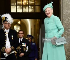 Denmark's Queen Margrethe arrives for for the Te Deum thanksgiving service in the Royal Chapel during King Carl XVI Gustaf of Sweden's 70th birthday celebrations in Stockholm, Sweden, April 30, 2016.  / AFP / TT NEWS AGENCY AND TT News Agency / Maja Suslin/TT / Sweden OUT        (Photo credit should read MAJA SUSLIN/TT/AFP/Getty Images)