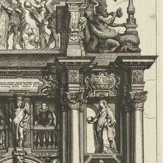 De triomfboog van Filips (achterzijde); intocht van Ferdinand te Antwerpen in 1635 (nr. 14), Theodoor van Thulden, Jacob Jordaens (I), Cornelis de Vos, 1639 - 1641 - Filips de Schone (1478-1506)-Verzameld werk van Het Valse Paradijs - Alle Rijksstudio's - Rijksstudio - Rijksmuseum