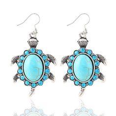 Luxury Silver Turtle Drop Earrings – Impulse Discounts