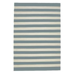 LET LIV Cotton Striped Floor Rug in Cool Grey & Milk