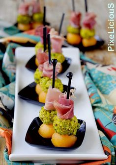 Prosciutto Crudo, Antipasto, Caramel Apples, Finger Foods, Brunch, Food And Drink, Appetizers, Menu, Cooking