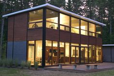 Charlie Lazor's Flatpak house; modular, elegant, a container for living in the spirit of Eames. Needs to be a little cheaper.