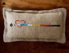 Laura's Loop: Heart and Arrow PinCushion - The Purl Bee - Knitting Crochet Sewing Embroidery Crafts Patterns and Ideas!