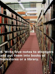 Leave positive messages for students hidden in books, or a try-this-book-next message