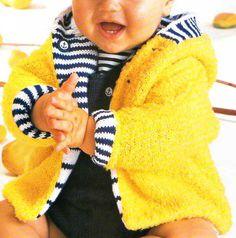 Le paletot reversible / UNE SUPER IDEE, à décliner avec d'autres laines, d'autres couleurs en donnant libre cours à sa créativité !!  3, 6, 12, 18 et 24 mois - Aig.3,5 Pull Bebe, Bebe Baby, Baby Couture, Baby Knitting, Lana, Baby Gifts, Kids Fashion, Boutique, Wool