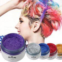 Gramma grey Hair wax Non-toxic Temporary Pastel Hair color Dye Color mud hair color paint 5 Colors A2