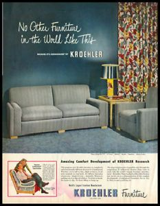 1948 Vintage Ad for Kroehler Furniture | eBay