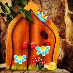 """Who's going to pop out the fairy door # Child Smile, Make Happy, Goldfish, Your Child, Gifts For Kids, Stuffed Mushrooms, Fairy, Doors, Make It Yourself"