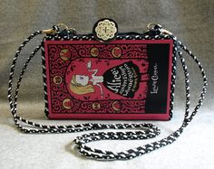 Alice in Wonderland repurposed book purse. The pages are rebound as a paperback so you can still read your purse! www.beezbyscranton.com