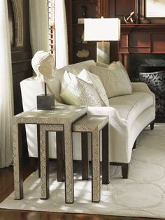 Tower Place Adler Nesting Tables - Lexington Home Brands Living Room Plan, Living Room Remodel, Home And Living, Living Room Designs, Living Rooms, Modern Living, Living Spaces, Lexington Furniture, Lexington Home