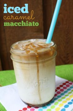 How to make an Iced Caramel Macciato from home: Just a handful of ingredients, costing right around $1 per drink!