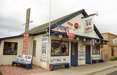 "Route 66 - Angel's Barber Shop, Seligman, Arizona. ""The Fine Art Photography of Frank Romeo."""
