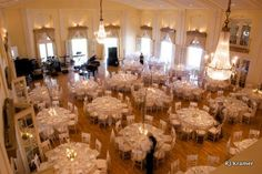 View of the ballroom from the balcony at the Lafayette Club
