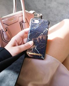 Port Laurent Marble by lovely @alexandra.em - Fashion case phone cases iphone inspiration iDeal of Sweden #marble #black #blue #gold #fashion #inspo #iphone #marmor