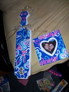 Matching Delta Gamma paddle & frame gifts- zeta sigma chapter (my chapter)