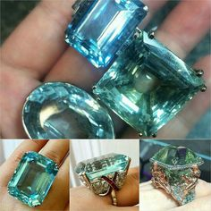 Crazy beautiful clear as crystal aquamarine swimming pools that you can wear with joy! A handful of aquamarines from #christiesjewels @charlottepeel_christies An eye watering 1950's aquamarine ring from #bonhamslondon @gemilybarber  #alessioboschi aquamarine ring @eveselaya