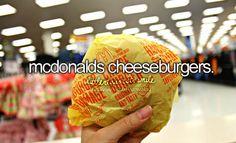 mcdonalds cheeseburgers.