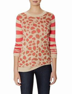 Leopard & Stripes Sweater from THELIMITED.com