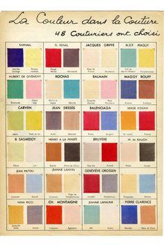 la couleur dans la couture
