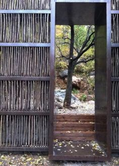 Wonder if i could make a screen from the willow tree twigs? organic garden fence or lattice!
