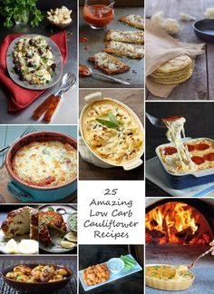 25 of the best and most creative low carb and gluten free cauliflower recipes available from top food bloggers. Try them and see for yourself!