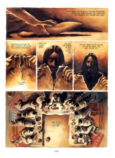 Illustration from Son of Man by Peter Madsen