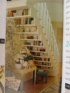 The deco idea of ​​Sunday: Create shelves under stairs - Trendy Home Decorations