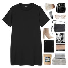 """""""Eu amei te ver - Tiago Iorc"""" by marysilvs1 ❤ liked on Polyvore featuring Monki, Qupid, Prada, Christy, Poppy & Pout, MAKE UP FOR EVER and Fujifilm"""