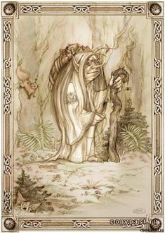 Kikimora is a female house spirit in Slavic mythology. She usually lives behind the stove or in the cellar of the house where she haunts.