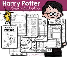 Harry Potter - Cahier d´activités École Harry Potter, Harry Potter Classes, Harry Potter School, Harry Potter Classroom, Harry Potter Francais, Harry Potter Enfants, Hardy Potter, Anniversaire Harry Potter, School Themes