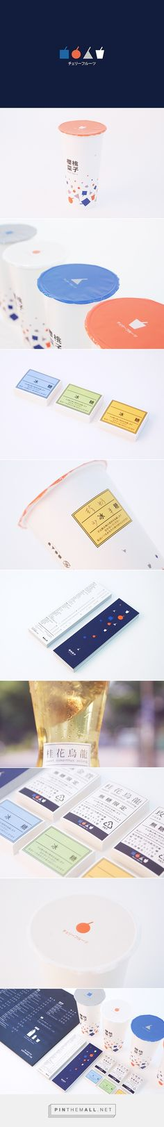 Cherries Tea House on Behance by Chou Chin-Huan Tainanshih, Taiwan curated by Packaging Diva PD. A tea shop in Tainan. New corporate identity system for packaging.