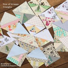 Year of Scrappy Triangles | Try your hand at foundation paper piecing with these projects!