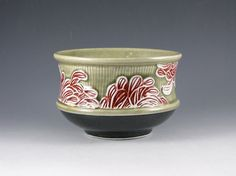 Chrysanthemum Bowl Second by MSPottery on Etsy