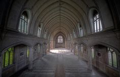 abandoned church in Detroit.