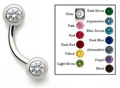 Clearance Gem Set Side Curved Barbell Light Purple, Pink Blue, Body Jewelry, Jewelry Sets, Diamond Earrings For Women, Blue Zircon, Alexandrite, Cheap Jewelry, Barbell