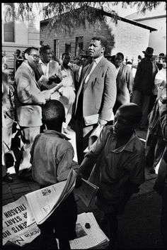 Nelson Mandela, then acting as a defense lawyer, outside the Drill Hall, during the Treason Trial, the first major trial for treason in South Africa.