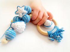 Nursing necklace Blue sea ocean Breastfeeding от EvelinJewelry, $28.99