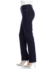 Gloria Vanderbilt Women's Amanda Straight Leg Jean, Rinse, 16