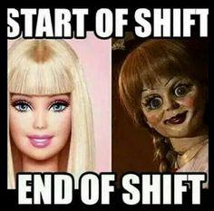 Start/end of shift