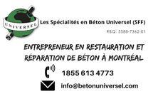 Entrepreneur en Béton; réfection de béton structurale