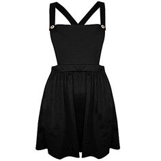Miss Ta-daa WOMEN CELEBRITY PINAFORE DUNGAREE STYLE SKATER MINI BLACK DRESS (M/L) INAFORE DUNGAREE STYLE SKATER DRESS SUITABLE FOR ALL OCASSIONS AND COMFORTABLE MATERIAL MACHINE WASHABLE. COLOUR: BLACK SIZES: UK 6-14 MADE IN UK (Barcode EAN = 5694801133446). http://www.comparestoreprices.co.uk/december-2016-4/miss-ta-daa-women-celebrity-pinafore-dungaree-style-skater-mini-black-dress-m-l-.asp