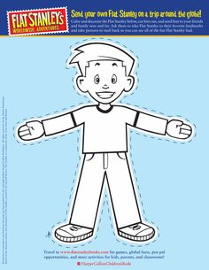 Flat Stanley cut-out template (front)