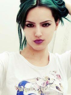 karline green blue hair my fasion style