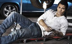 James Marsden can even make routine car maintenance look sexy!