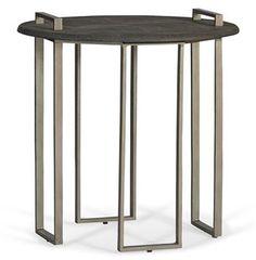 Jansen Hollywood Regency Grey Shagreen Iron Tray Side Table